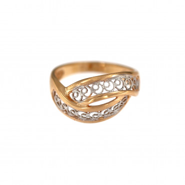 Rose gold ring DRB06-02