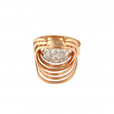 Rose gold ring DRB06-12