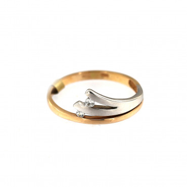 Rose gold zirconia ring DRC01-14