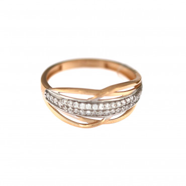 Rose gold zirconia ring DRC03-03