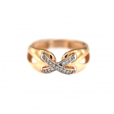 Rose gold zirconia ring DRC04-01