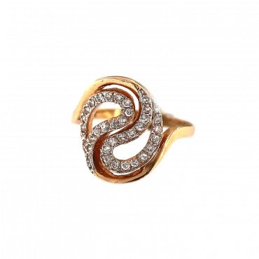 Rose gold zirconia ring DRC05-07
