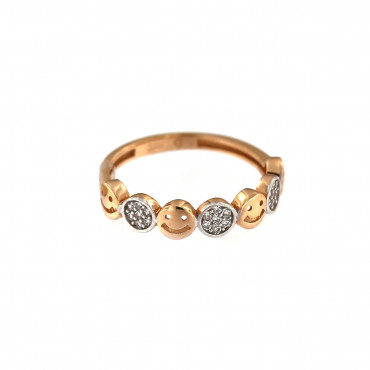 Rose gold zirconia ring DRC06-02