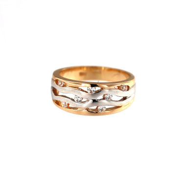 Rose gold zirconia ring DRC09-08