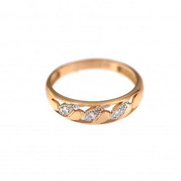 Rose gold zirconia ring DRC09-10