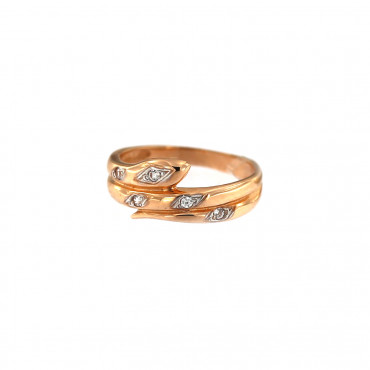 Rose gold zirconia ring DRC09-21