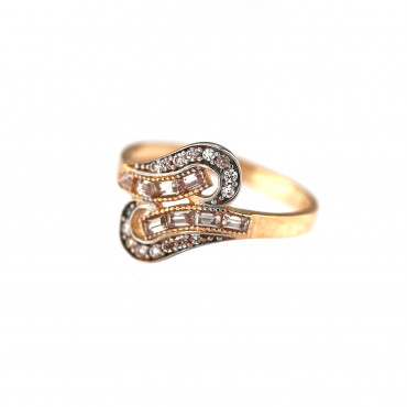 Rose gold zirconia ring DRC15-15