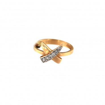 Rose gold zirconia ring DRC15-06