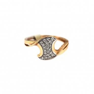 Rose gold zirconia ring DRC15-05