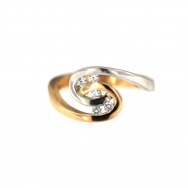 Rose gold zirconia ring DRC15-04