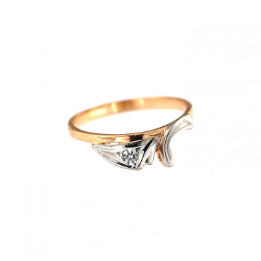 Rose gold zirconia ring DRC13-11