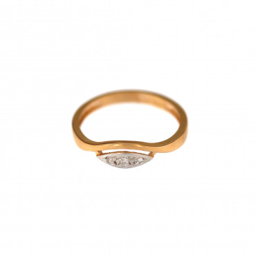 Rose gold zirconia ring DRC13-05