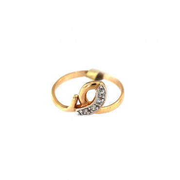 Rose gold zirconia ring DRC12-06