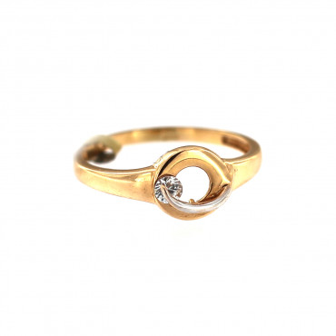 Rose gold zirconia ring DRC12-05