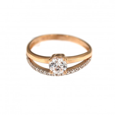 Rose gold zirconia ring DRD02-04