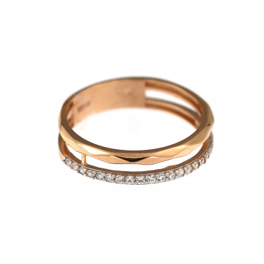 Rose gold zirconia ring DRD09-02