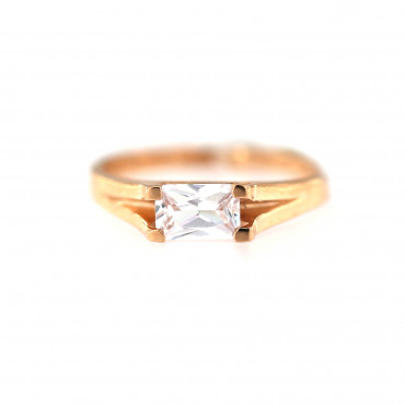 Rose gold zirconia ring DRL01-02