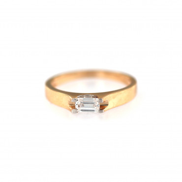 Rose gold zirconia ring DRL01-03