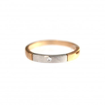 Rose gold zirconia ring DRL03-01
