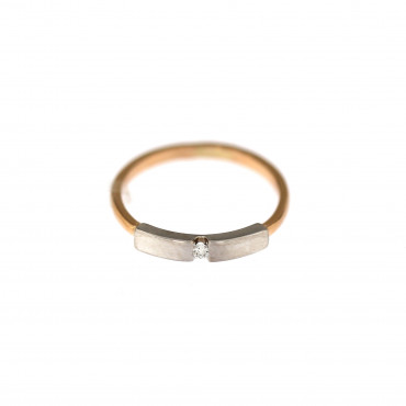 Rose gold zirconia ring DRL03-02
