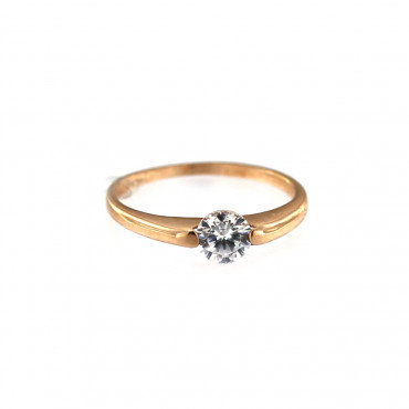 Rose gold zirconia ring DRL06-03