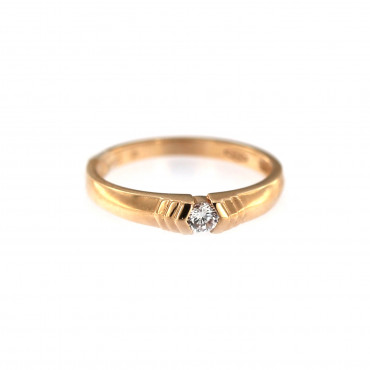 Rose gold zirconia ring DRL07-01