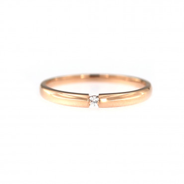 Rose gold zirconia ring DRL06-07