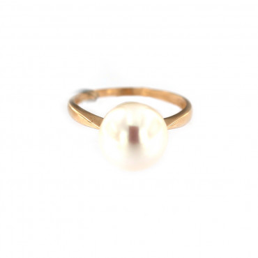 Rose gold pearl ring DRP02-01