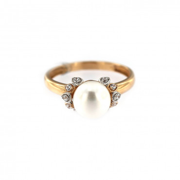 Rose gold pearl ring DRP03-01