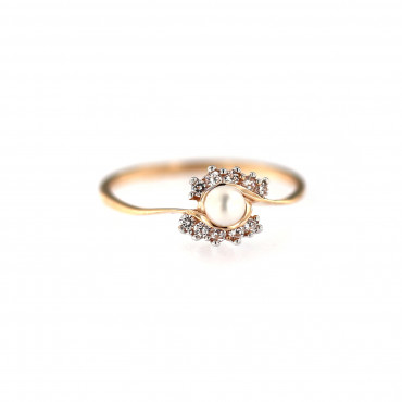 Rose gold pearl ring DRP04-01