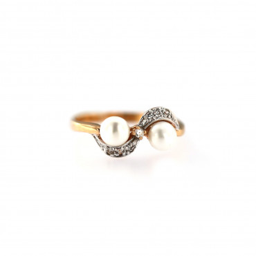 Rose gold pearl ring DRP05-01