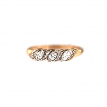 Rose gold zirconia ring DRT03-02