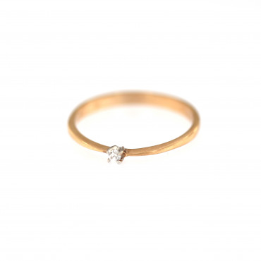 Rose gold engagement ring DRS01-01-01