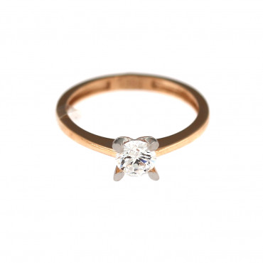 Rose gold engagement ring DRS01-01-07