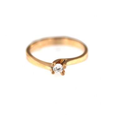 Rose gold engagement ring DRS01-01-11