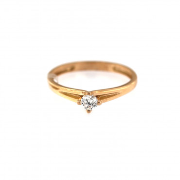 Rose gold engagement ring DRS01-01-13