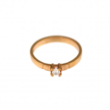 Rose gold engagement ring DRS01-01-22