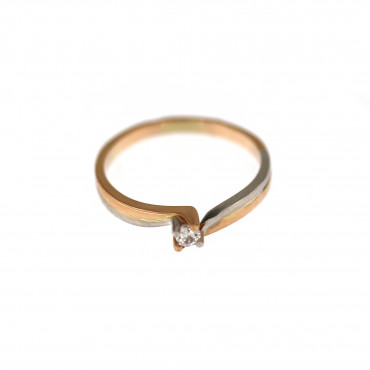Rose gold engagement ring DRS01-01-23