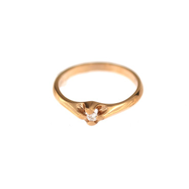 Rose gold engagement ring DRS01-01-24