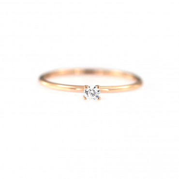 Rose gold engagement ring DRS01-01-25