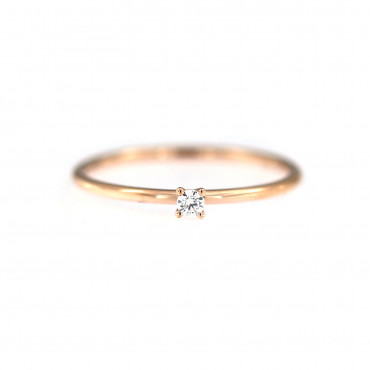 Rose gold engagement ring DRS01-01-26