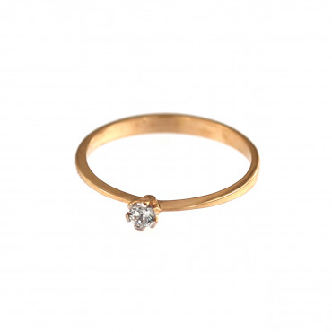 Rose gold engagement ring DRS01-02-01