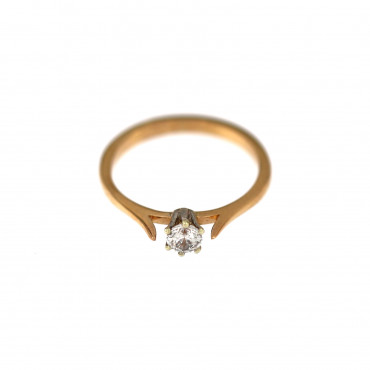 Rose gold engagement ring DRS01-02-06