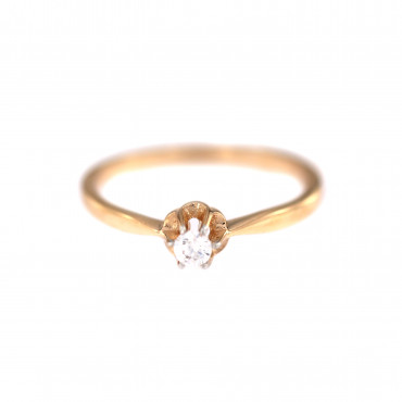 Rose gold engagement ring DRS01-02-09
