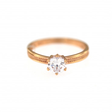 Rose gold engagement ring DRS01-02-10
