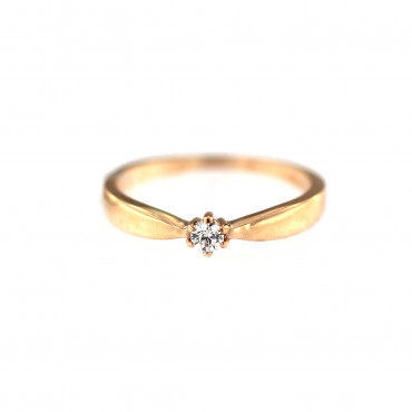 Rose gold engagement ring DRS01-02-12