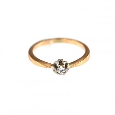 Rose gold engagement ring DRS01-02-13
