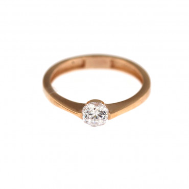 Rose gold engagement ring DRS01-03-01