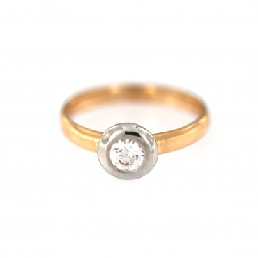 Rose gold engagement ring DRS01-03-03