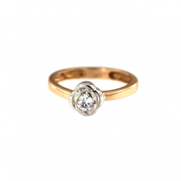 Rose gold engagement ring DRS01-03-06